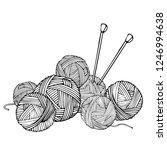 monochrome illustration with...   Shutterstock .eps vector #1246994638