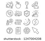 set of dollar exchange  mouse... | Shutterstock .eps vector #1247004208