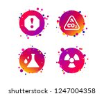 attention and radiation icons.... | Shutterstock .eps vector #1247004358
