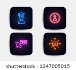 neon set of headhunting ... | Shutterstock .eps vector #1247005015