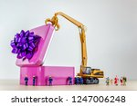 boxing day and family concept.... | Shutterstock . vector #1247006248