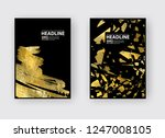 vector black and gold design... | Shutterstock .eps vector #1247008105