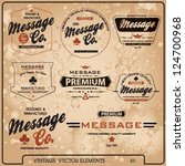 vintage label vector elements | Shutterstock .eps vector #124700968