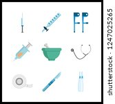 9 therapy icon. vector...   Shutterstock .eps vector #1247025265