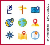 9 geography icon. vector... | Shutterstock .eps vector #1247028322
