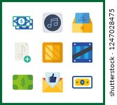 9 send icon. vector... | Shutterstock .eps vector #1247028475