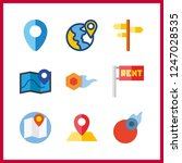 9 geography icon. vector... | Shutterstock .eps vector #1247028535