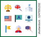 9 government icon. vector... | Shutterstock .eps vector #1247031232
