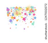 green  red  yellow pink star... | Shutterstock .eps vector #1247032072