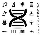 dna icon. simple glyph vector...