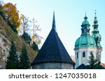 spires of the cathedrals of... | Shutterstock . vector #1247035018