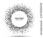 halftone circle abstract frame. ... | Shutterstock . vector #1247035678