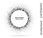 halftone circle abstract frame. ... | Shutterstock . vector #1247036545