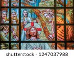 jesus and the tax collector... | Shutterstock . vector #1247037988