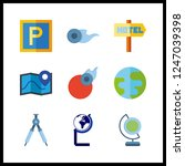 9 geography icon. vector... | Shutterstock .eps vector #1247039398
