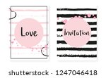 bridal shower set with dots and ... | Shutterstock .eps vector #1247046418