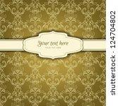 invitation card on background... | Shutterstock .eps vector #124704802