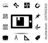 e reader icon. simple glyph... | Shutterstock .eps vector #1247052322