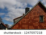 mansard   attic of cottage  ... | Shutterstock . vector #1247057218