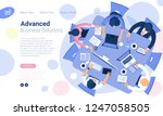 flat design  web page template... | Shutterstock .eps vector #1247058505