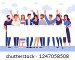 flat design trendy color vector ... | Shutterstock .eps vector #1247058508
