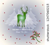 merry christmas and happy new... | Shutterstock .eps vector #1247060215