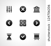 web site vector icons set   Shutterstock .eps vector #124706206