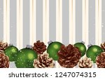 christmas composition.... | Shutterstock . vector #1247074315