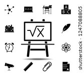 board with formula icon. simple ...