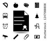 a basic diploma icon. simple...