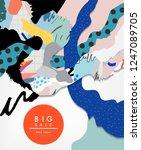 abstract flyer or banner design ...   Shutterstock .eps vector #1247089705