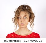 a young disheveled woman with...   Shutterstock . vector #1247090728