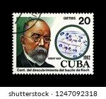 cuba   circa 1982  post stamp... | Shutterstock . vector #1247092318