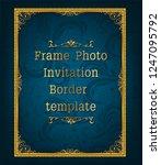decorative vintage frame and...   Shutterstock .eps vector #1247095792