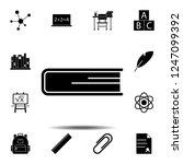 book icon. simple glyph vector...