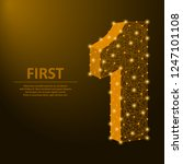 number one made by points and... | Shutterstock .eps vector #1247101108
