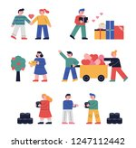 a set of people who share a... | Shutterstock .eps vector #1247112442