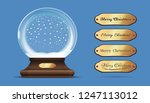 christmas empty snow globe with ... | Shutterstock .eps vector #1247113012