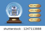 snow globe with a house under... | Shutterstock .eps vector #1247113888