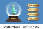 snow globe with a a christmas... | Shutterstock .eps vector #1247114152