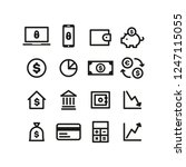 finance icons set | Shutterstock .eps vector #1247115055