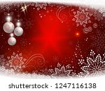christmas red background with... | Shutterstock .eps vector #1247116138