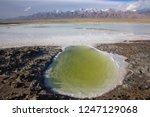 panoramic scenery of salt lakes ... | Shutterstock . vector #1247129068