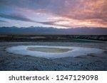 panoramic scenery of salt lakes ... | Shutterstock . vector #1247129098