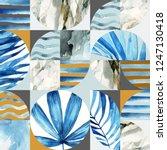 abstract geometric seamless... | Shutterstock . vector #1247130418