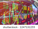 stock market graph with red... | Shutterstock . vector #1247131255