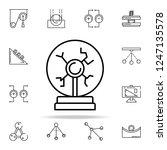 plasma ball icon. physics icons ... | Shutterstock .eps vector #1247135578
