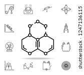 molecules icon. physics icons... | Shutterstock .eps vector #1247136115