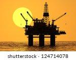 Image Of Oil Platform During...