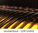 modern network switch with... | Shutterstock . vector #124714342